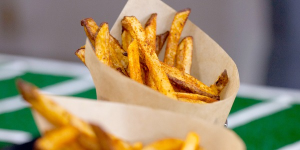 Crispy Spiced Oven Fries with Sriracha Ketchup