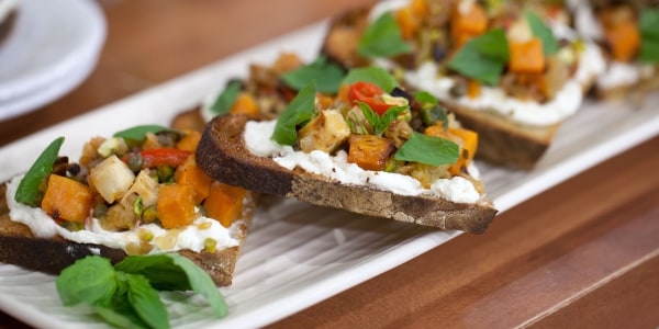 Root Vegetable and Feta Bruschetta