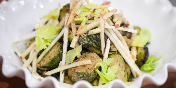 Crispy Brussels Sprouts with Celery and Apple