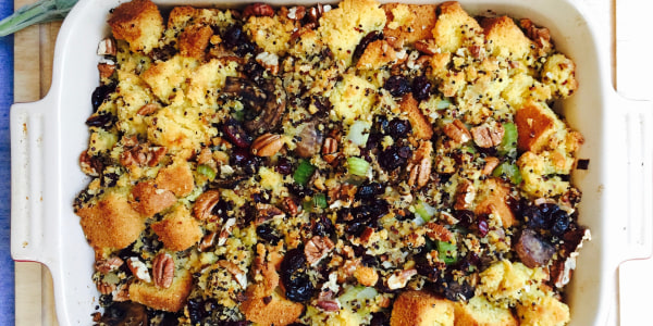 Quinoa, Cornbread and Cranberry Stuffing