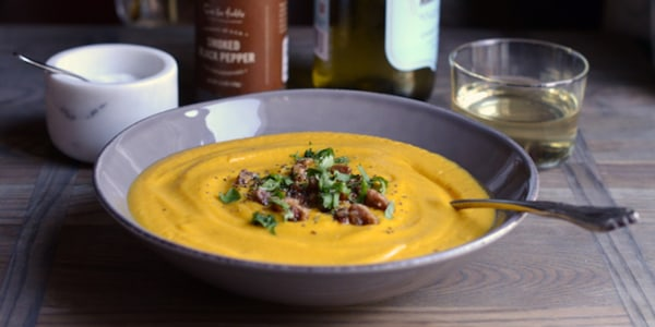 Spicy Chipotle-Maple Butternut Squash Soup