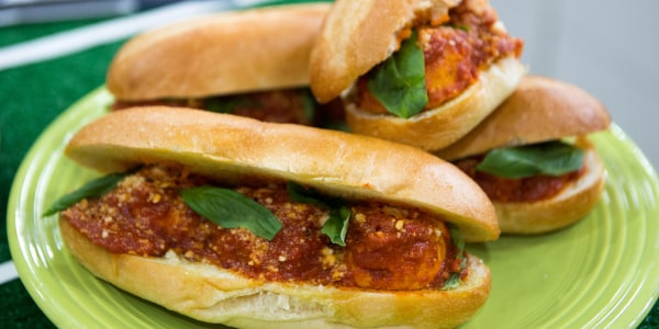 Turkey Meatball Hero Sandwiches