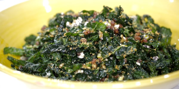 Kale Salad with Crispy Bread Crumbs
