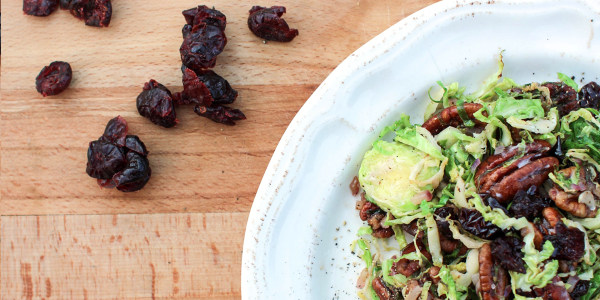 Sunny's Easy Holiday Brussels Sprout Salad