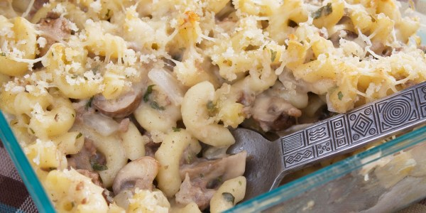 Stovetop Mac and Cheese with Mushrooms