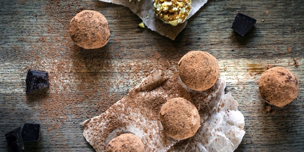 Almond Hemp Chocolate Truffles