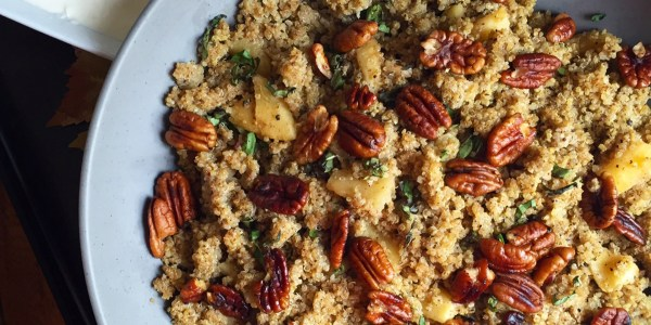 Spiced Quinoa with Cinnamon Apples and Toasted Pecans