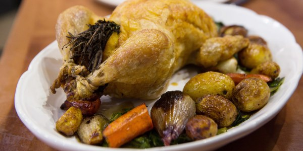 Roast Chicken with Potatoes and Vegetables