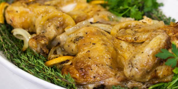 Ina Garten's Skillet-Roasted Lemon Chicken