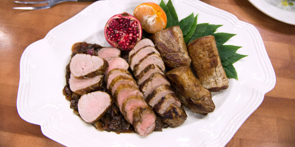Lidia Bastianich's Pork Tenderloin with Balsamic Onions