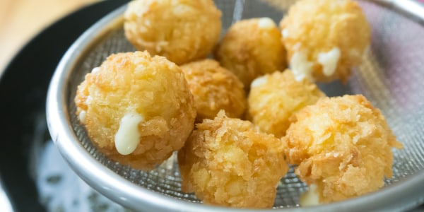 Cheese-Stuffed Potato Puffs