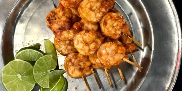 3-Ingredient Chipotle-Lime Shrimp Skewers