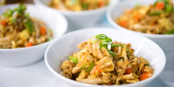 Healthy One-Pan Chicken 'Fried' Rice