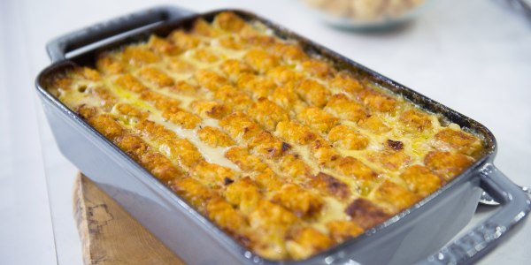 Tater Tot Chicken Pot Pie recipe
