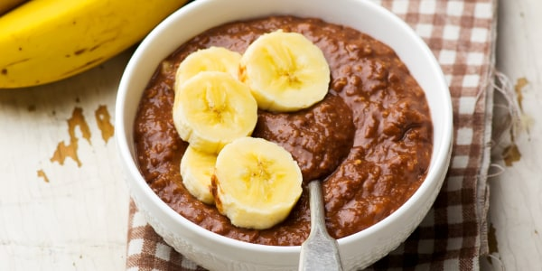 Chocolate-Banana Overnight Oatmeal