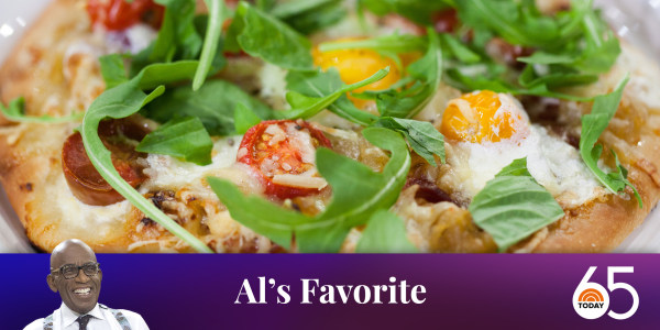 Al's Breakfast Pizza with Tomato, Burrata and Garlic Butter