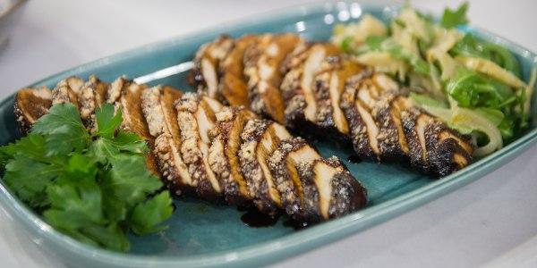 Balsamic Chicken Massimo with Artichoke Soubise
