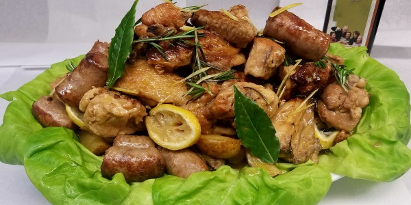 Chicken Scarpariello with Sausage and Potatoes