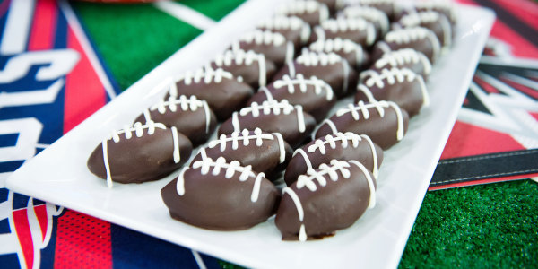 Mini Oreo Football Truffles