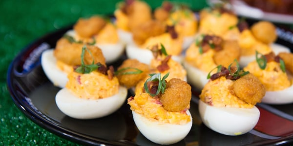 Pimento Cheese Stuffed Deviled Eggs