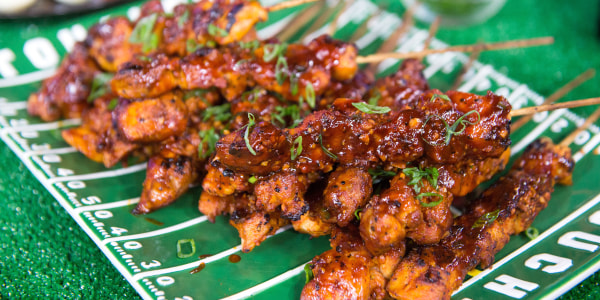 BBQ Cola Chicken Skewers
