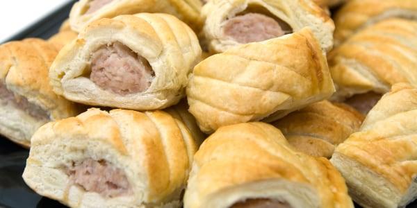 Turkey Sausage Rolls with Whole Grain Mustard Aioli