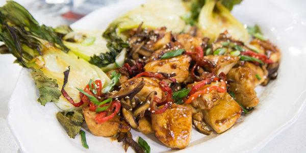 Miso-Glazed Chicken and Bok Choy