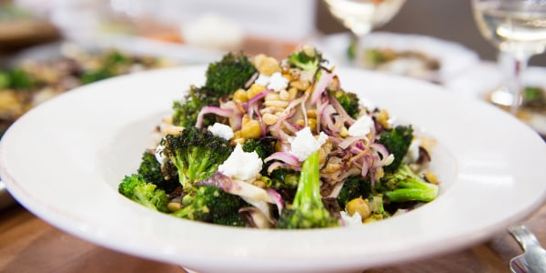 Roasted Broccoli, Radicchio and Chickpeas