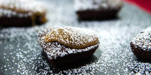 Devil's Food Cake Heart with Chocolate Mascarpone Cream