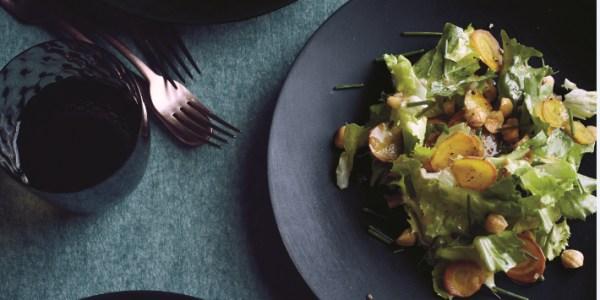 Escarole and Beet Salad with Toasted Hazelnuts
