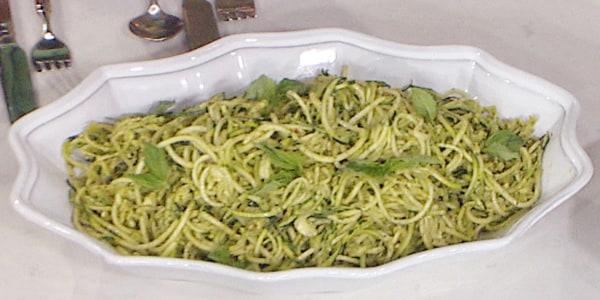 Zucchini Noodles with Avocado Pesto