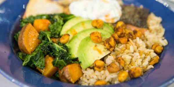 Siri Daly's Salmon and Veggie Rice Bowls