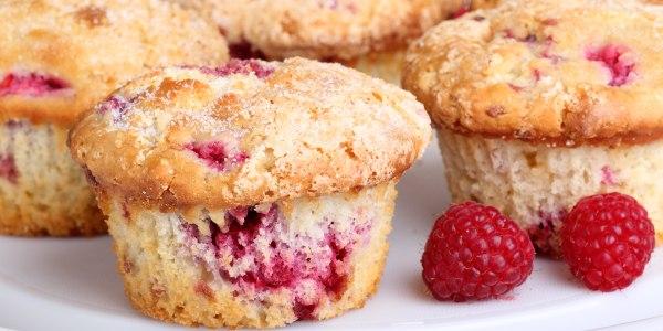 Raspberry Rhubarb Muffins