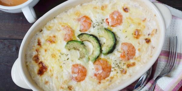 Lidia Bastianich's Shrimp and Scallop Gratin