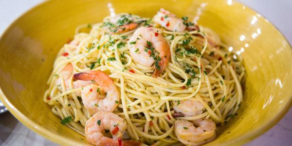 Shrimp and Lemon Linguini with Chiles