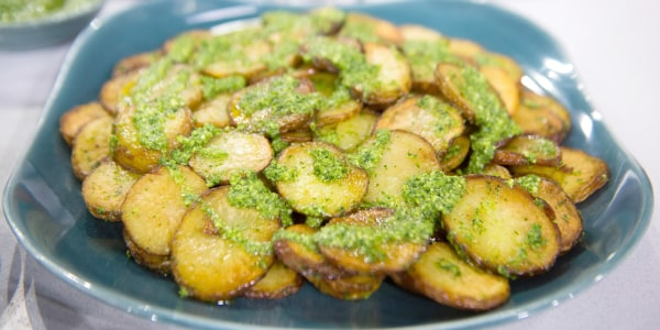 Bobby Flay's Sautéed Potatoes with Green Onion Pesto