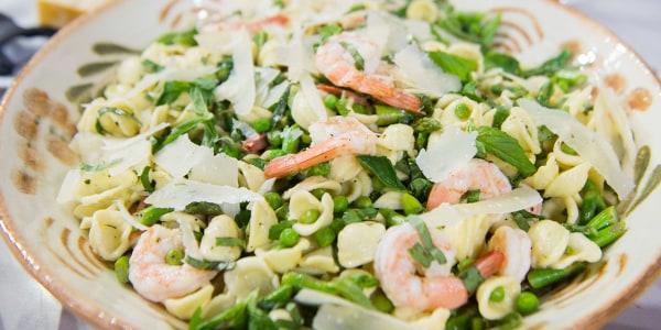 Spring Pasta Salad with Shrimp