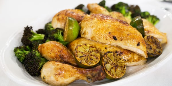Roasted Chicken with Crispy Broccoli