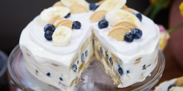No-Bake Blueberry and Banana Icebox Cake