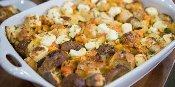 Bagel and Lox Breakfast Casserole