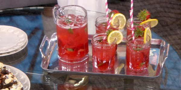 Strawberry-Basil Lemonade