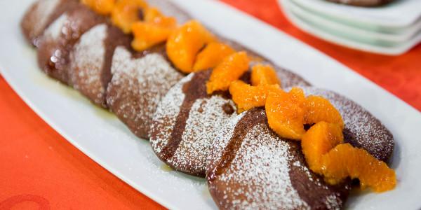 Cocoa Tangerine Pancakes