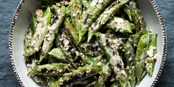 Snap Peas with Feta and Mint