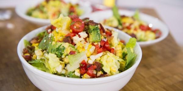 Avocado, Corn and Bacon Salad with Lime Vinaigrette