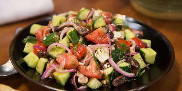 Village Salad with Tangy Lemon Vinaigrette
