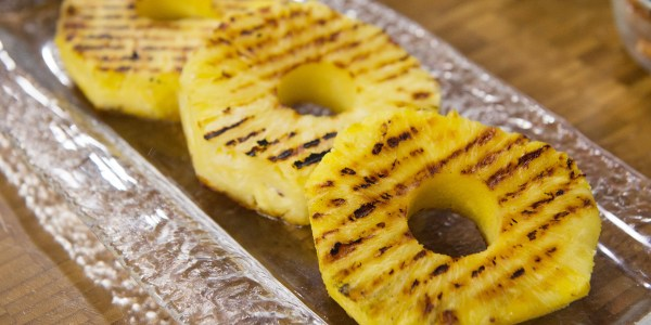 Grilled Pineapple with Candied Cashews