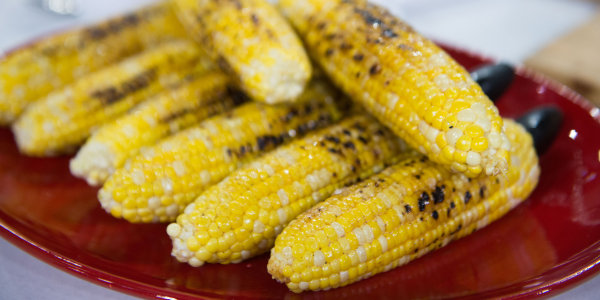 Grilled Corn with Chili Honey Butter