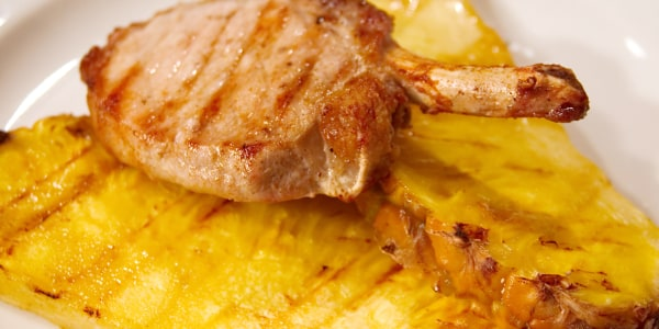 Al Roker's Grilled Pork Chops with Pineapple