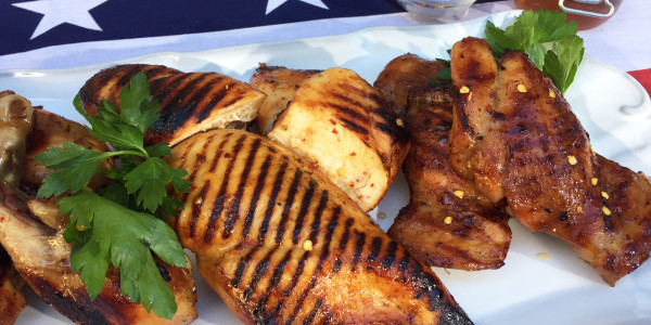Sunny's Hot Honey Brined & Grilled Chicken