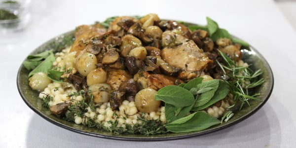 Spiced Chicken with Lebanese Couscous